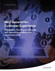 Next Generation Customer Experience